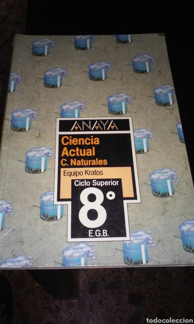 LIBRO DE TEXTO NATURALES ED ANAYA 8° EGB (Libros de Segunda Mano - Libros de Texto )
