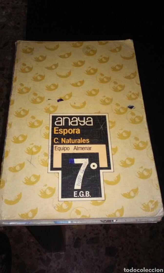 LIBRO DE TEXTO NATURALES 7° EGB ED ANAYA 1985 (Libros de Segunda Mano - Libros de Texto )