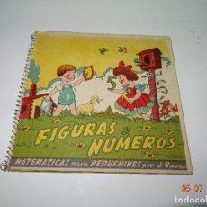 Libros de segunda mano: CUADERNO ESCOLAR *FIGURAS Y NÚMEROS* MATEMATICAS PARA PEQUEÑINES - TOTALMENTE TROQUELADO 1940S.. Lote 92034920