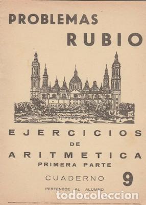 PROBLEMAS RUBIO 9, EJERCICIOS DE ARITMÉTICA (PRIMERA PARTE). 1959 (Libros de Segunda Mano - Libros de Texto )