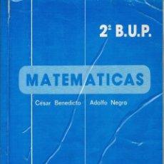 Libros de segunda mano: LIBRO MATEMÁTICAS 2º BUP EDICIONES ALHAMBRA 1984 . Lote 93949835