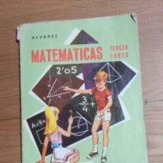 Libros de segunda mano: MATEMATICAS TERCER CURSO MIÑON 1966. Lote 93972425