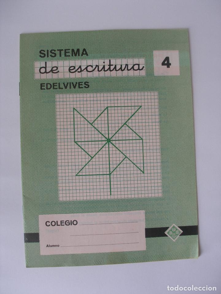 CUADERNILLO SISTEMA DE ESCRITURA EDELVIVES Nº 4 - SIN USO (Libros de Segunda Mano - Libros de Texto )