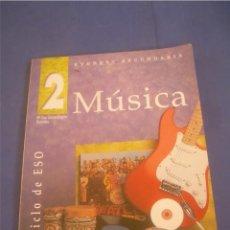 Libros de segunda mano: MÚSICA 2. PRIMER CICLO ESO SECUNDARIA. EVEREST 2000. LIBRO DE TEXTO, ESCOLAR. Lote 95708871