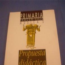 Libros de segunda mano: MÚSICA 5 PRIMARIA TERCER CICLO. PROPUESTA DIDÁCTICA. ANAYA 1994. ESCOLAR. Lote 95708991