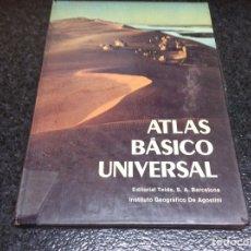 Libros de segunda mano: ATLAS BÁSICO INUVERSAL. -ED. EDITORIAL TEIDE 1983. Lote 95764467