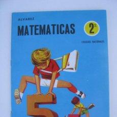 Libros de segunda mano: LIBRO-CARTILLA MATEMATICAS 2º ALVAREZ - CUADERNO 2 - EDITORIAL MIÑON - NUEVO SIN USAR - AÑO 1969. Lote 95876743