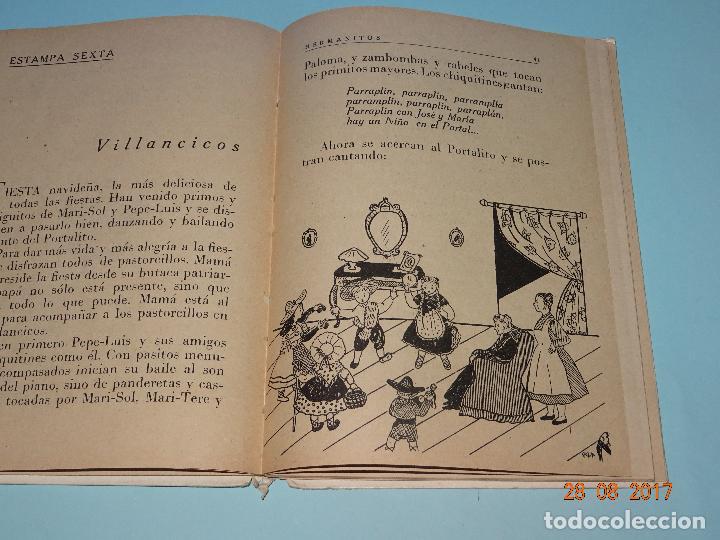 Libros de segunda mano: Antiguo Libro Escuela * HERMANITOS * de Josefina Álvarez Cánovas y Edit. Magisterio Español año 1948 - Foto 2 - 96574603