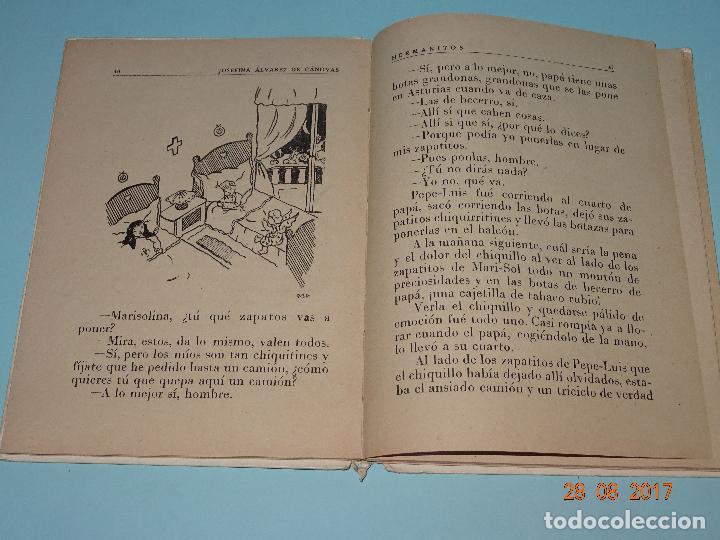 Libros de segunda mano: Antiguo Libro Escuela * HERMANITOS * de Josefina Álvarez Cánovas y Edit. Magisterio Español año 1948 - Foto 3 - 96574603