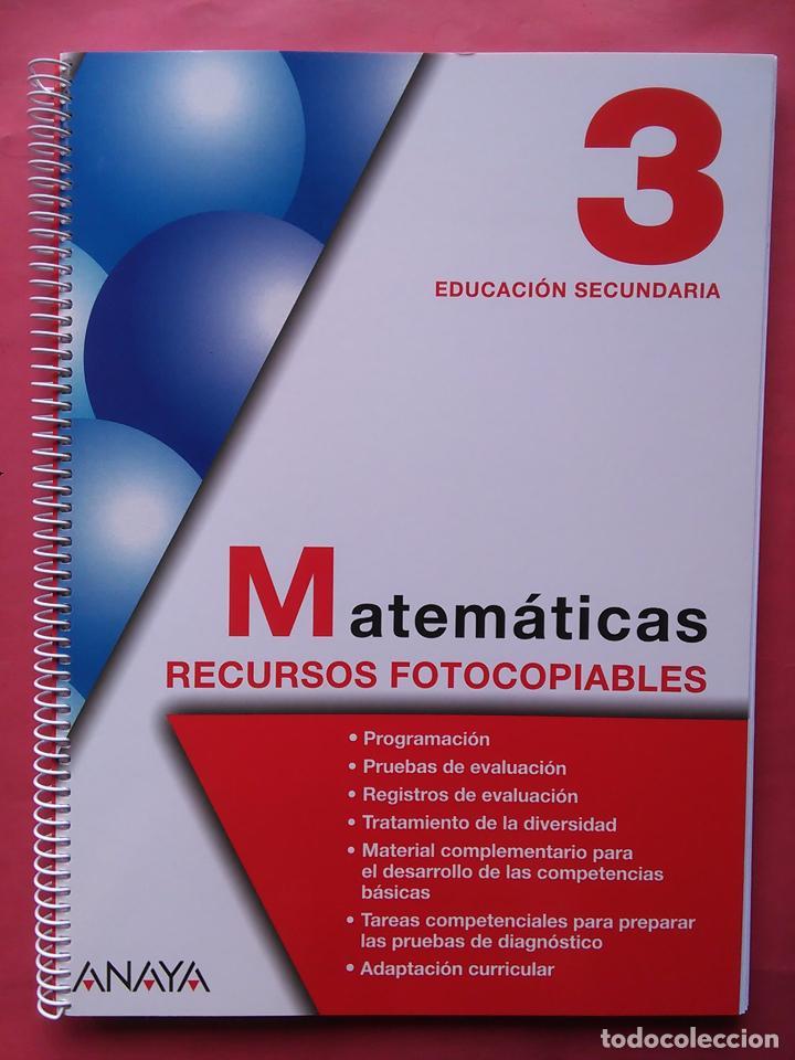 Matematicas 3 Eso Anaya Recursos Fotocopiables Comprar Libros De Texto En Todocoleccion 97352219