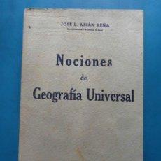 Libros de segunda mano - Nociones de geografia universal. Jose L. Asian Peña. Bosch casa editorial. 1942 - 97852559