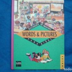 Libros de segunda mano: WORDS & PICTURES - DICCIONARIO EN IMÁGENES DE INGLES PARA NIÑOS - ED. SM. Lote 98123763