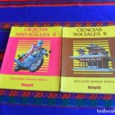 Libros de segunda mano: CIENCIAS DE LA NATURALEZA 8 Y CIENCIAS SOCIALES 8. MANGOLD 1985. EGB. MUY RAROS.. Lote 98204795