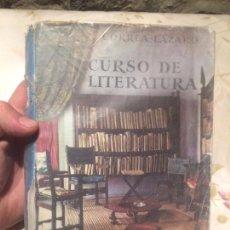 Libros de segunda mano: ANTIGUO LIBRO ESCOLAR CURSO DE LITERATURA ESCRITO POR CORREA LAZAR AÑO 1971. Lote 98248815