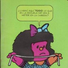 Libros de segunda mano: CUADERNO ESCOLAR MAFALDA. Lote 99837511