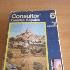 Libros de segunda mano: CONSULTOR 6. CIENCIAS SOCIALES. E.G.B SANTILLANA . Lote 100315367