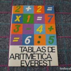 Libros de segunda mano: TABLAS DE ARITMÉTICA EVEREST, TABLAS DE MULTIPLICAR. SIN USAR. 1983.. Lote 100368207