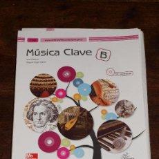 Libros de segunda mano: LIBRO DE MUSICA CLAVE B MC GRAW HILL.ESO. PROYECTO EL ARBOL DEL CONOCIMIENTO. USADO. VER FOTOS Y MAS. Lote 100381451