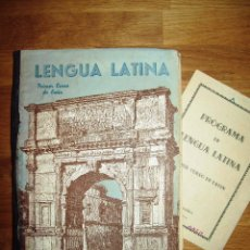 Libros de segunda mano: GARCÍA PASTOR, JESÚS. LENGUA LATINA. PRIMER CURSO + PROGRAMA. Lote 100423347