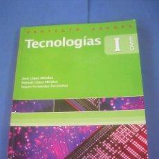 Libros de segunda mano: TECNOLOGÍAS 1 1º ESO, PROYECTO ARROBA. EVEREST 2007. LIBRO DE TEXTO, ESCOLAR. Lote 100437371
