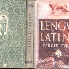 Libros de segunda mano: EDELVIVES : LENGUA LATINA TERCER CURSO (1945). Lote 101468503