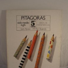 Libros de segunda mano: LIBRO, PITAGORAS, AREA DE MATEMATICAS 5º EGB, EDICONES SM, NUEVO A ESTRENAR. Lote 103470715