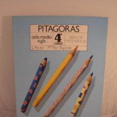 Libros de segunda mano: LIBRO, PITAGORAS, AREA DE MATEMATICAS 4º EGB, EDICONES SM, NUEVO A ESTRENAR. Lote 103470759