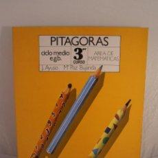 Libros de segunda mano: LIBRO, PITAGORAS, AREA DE MATEMATICAS 3º EGB, EDICONES SM, NUEVO A ESTRENAR. Lote 103470803