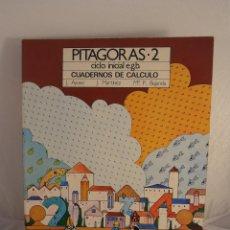 Libros de segunda mano: LIBRO, PITAGORAS, CUADERNOS DE CALCULO 2º EGB, EDICONES SM, NUEVO A ESTRENAR. Lote 103470855