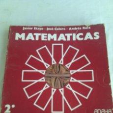 Libros de segunda mano: MATEMATICAS 2 BUP ANAYA 1977. Lote 103890871