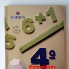 Libros de segunda mano: MATEMÁTICAS. LIBRO DEL PROFESOR. 4º EGB. EDITORIAL EDELVIVES.. Lote 69840853