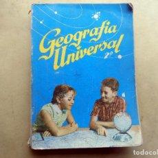 Libros de segunda mano: GEOGRAFIA UNIVERSAL. 2 CURSO. 1964. MADRID. . Lote 105805879