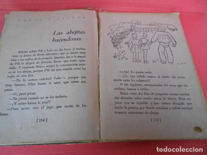 Libros de segunda mano: Campo y ciudad, (Mercedes Sanz Bachiller), Textos Escolares Aguado 1942 - Foto 8 - 106088403