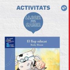 Libros de segunda mano: LLEGIR PER SABER: EL LLOP EDUCAT (CATALÁN).. Lote 106138468