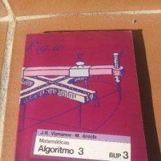 Libros de segunda mano: MATEMATICAS ALGORITMO 3 SM. Lote 109247531