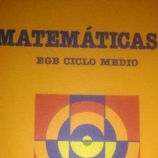 Libros de segunda mano: MATEMÁTICAS 3 EGB CICLO MEDIO. SANTILLANA. 1988. PÁGINAS 175. PESO 480 GR.. Lote 110059763