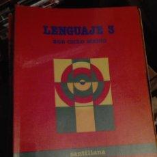 Libros de segunda mano: LIBRO SANTILLANA EGB AÑOS 80 /LENGUAJE 3. Lote 110195911