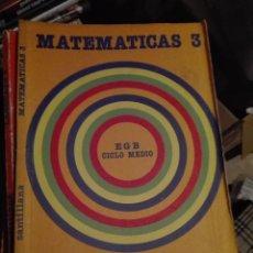 Libros de segunda mano: LIBRO SANTILLANA EGB AÑOS 80 / MATEMATICAS 3. Lote 110195959