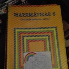 Libros de segunda mano: LIBRO SANTILLANA EGB AÑOS 80 /MATEMATICAS 6 LIBRO FORRADO. Lote 110196067