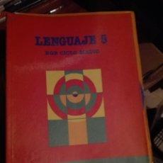 Libros de segunda mano: LIBRO SANTILLANA EGB AÑOS 80 /LENGUAJE 5. Lote 110196231
