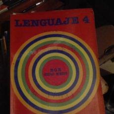 Libros de segunda mano: LIBRO SANTILLANA EGB AÑOS 80 /LENGUAJE 4. Lote 110196475
