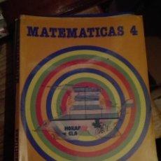 Libros de segunda mano: LIBRO SANTILLANA EGB AÑOS 80 / MATEMATICAS 4 LIBRO FORRADO. Lote 110196707