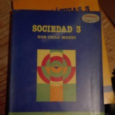 Libros de segunda mano: LIBRO SANTILLANA EGB AÑOS 80 / SOCIEDAD 3. Lote 110197083
