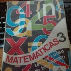 Libros de segunda mano: MATEMÁTICAS 3 CURSO EDELVIVES BACHILLERATO. Lote 110475700