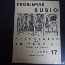 Livres d'occasion: CUADERNO ESCUELA DE PROBLEMAS RUBIO.. Lote 110650551