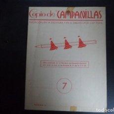 Libros de segunda mano: CUADERNO ESCUELA EJERCICIOS DE CALIGRAFIA. COPIO DE CAMPANILLAS.. Lote 110651831