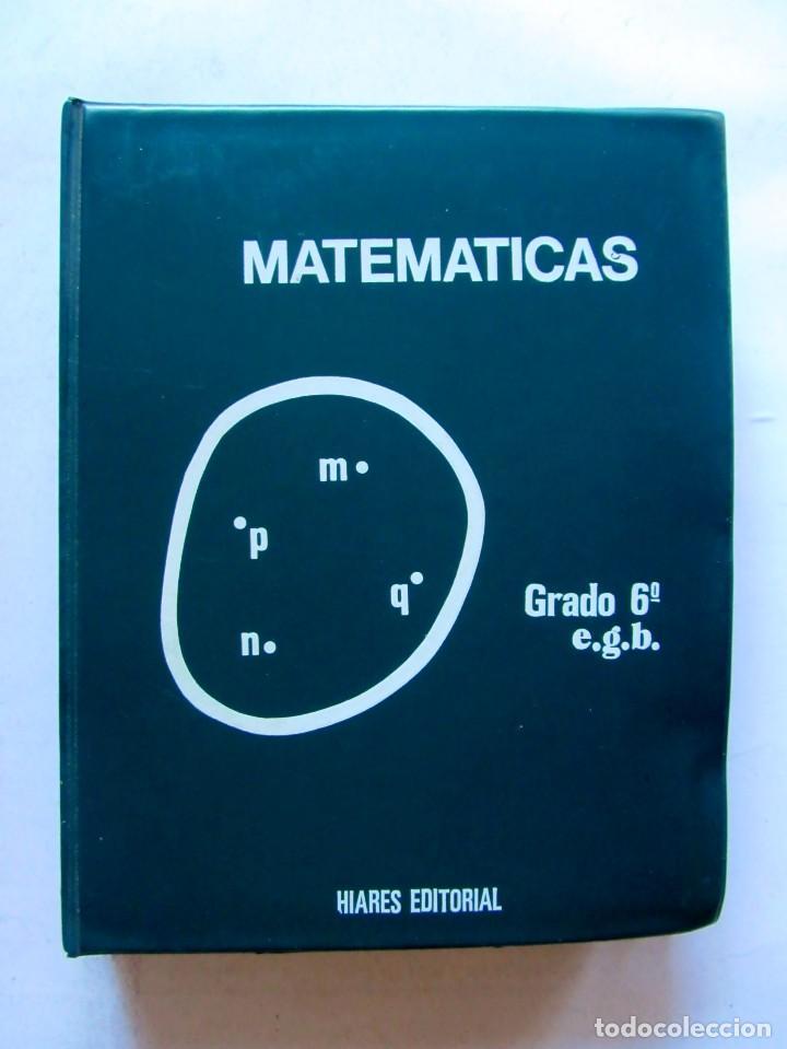 MATÉMATICAS GRADO 6º E.G.B. CARPETA CON CURSO + 192 DIAPOSITIVAS HIARES EDITORIAL 1975 (Libros de Segunda Mano - Libros de Texto )