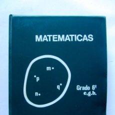 Libros de segunda mano: MATÉMATICAS GRADO 6º E.G.B. CARPETA CON CURSO + 192 DIAPOSITIVAS HIARES EDITORIAL 1975. Lote 110905235