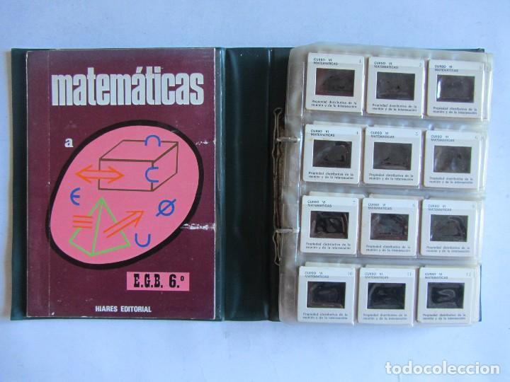 Libros de segunda mano: Matématicas Grado 6º E.G.B. CARPETA CON CURSO + 192 diapositivas HIARES EDITORIAL 1975 - Foto 2 - 110905235