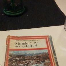 Libros de segunda mano: MUNDO Y SOCIEDAD 7 EDITORIAL MAGISTERIO ESPAÑOL. Lote 111805586
